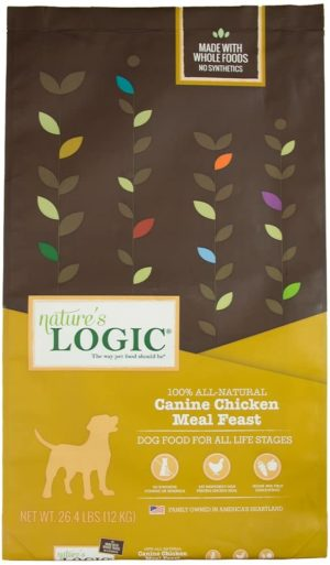 natures logic dog food canine meal feast chicken