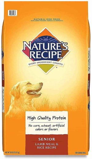 natures recipe senior food