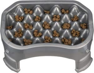 neater pet brands neater raised slow feeder elevated dog bowl and adjustable food height