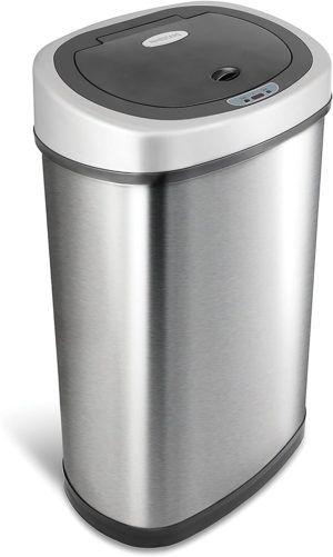ninestars dzt 50 9 automatic touchless infrared motion sensor Dog Proof Trash Can 13 gal 50l stainless steel base