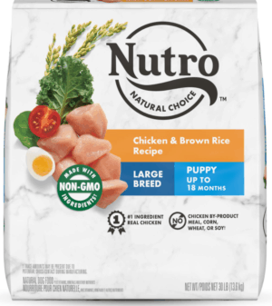nutro natural choice large breed puppy chicken brown rice recipe dry dog food