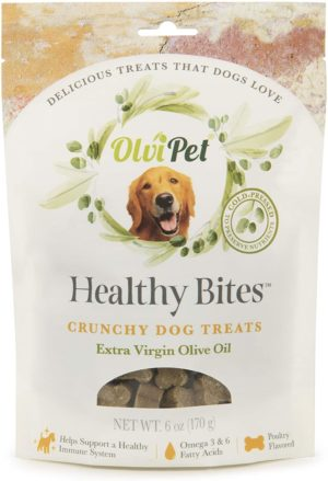 Can dogs eat olives? olvipet cold pressed extra virgin olive oil based healthy living dog treats