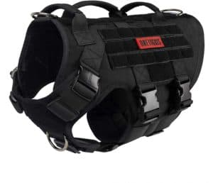 onetigris large tactical dog harness no pulling adjustable dog vest harness heavy duty dog harness with 3 handles