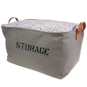 organizerlogic storage baskets extra large woven basket storage canvas for toys kids pets laundry bin sturdy lightweight and decorative natural bins medium gray