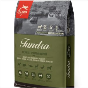 orijen tundra 4 4lb wholeprey grain free dog food
