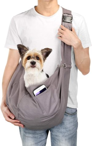 ownpets pet sling carrier pet sling carrier bag safefit 1015lb catsdogs comfortable adjustable perfect for daily walk outdoor activity and weekend adventure