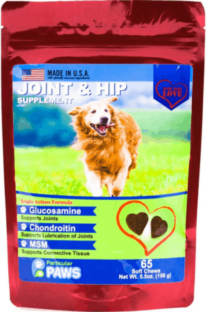 particular paws joint hip soft chews dog supplement 65 count