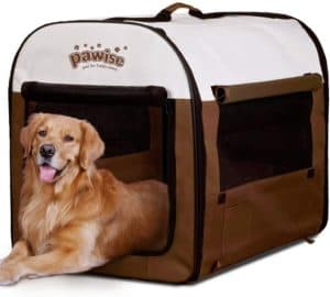 pawise portable soft dog crate folding pet kennel cat samll animal tent indoor outdoor pet carrier
