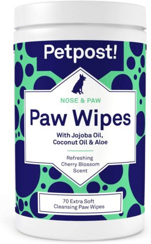pet pst nose and paw wipes
