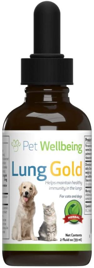 pet wellbeing lung gold for cats and dogs natural breathing support for canines