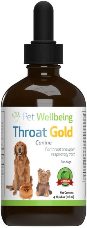 pet wellbeing throat gold cough throat soother