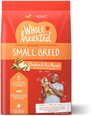 petco brand wholehearted grain free small breed chicken and pea recipe adult dry dog food 14 lbs