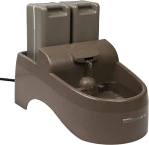 petsafe drinkwell indoor outdoor dog fountain pet drinking fountain for dogs and cats 450 oz water capacity automatic dispenser