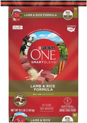 purina one smartblend natural adult lamb rice dry dog food