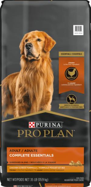 purina pro plan adult shredded blend chicken rice formula dry dog food