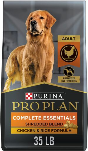 purina pro plan with probiotics shredded blend high protein adult dry dog food chicken rice