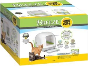 purina tidy cats hooded litter box system breeze hooded system starter kit litter box litter pellets pads