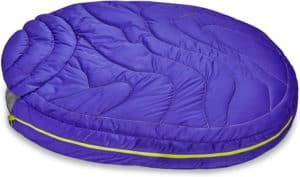 ruffwear highlands dog sleeping bag water resistant portable dog bed for outdoor use
