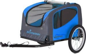 schwinn rascal bike pet trailer for small and large dogs folding frame carrier quick release wheels universal bicycle coupler adjustable