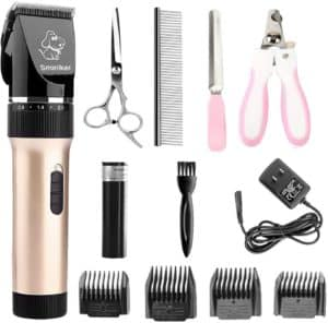 sminiker professional low noise rechargeable cordless cat and dog clippers professional pet clippers grooming kitanimal clippers pet grooming kit