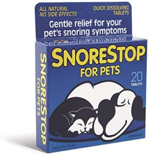 dog snoring: snorestop for pets 20 chewable tablets pet snoring