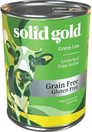 solid gold green cow beef tripe broth natural wet canned dog food for sensitive stomachs picky eaters grain free meal or topper