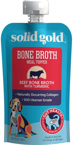 solid gold human grade bone broth for dogs natural collagen holistic grain free meal topper