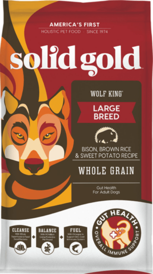 solid gold wolf king bison brown rice recipe with sweet potatoes large breed adult dry dog food