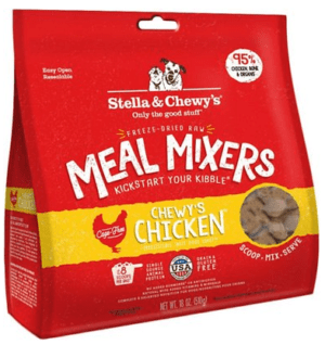 stella chewys freeze dried raw super beef meal mixers