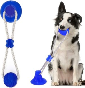 suction cup dog toy helps clean teeth dog toy pet molar bite toy strong rope powerful suction cup for tug chew