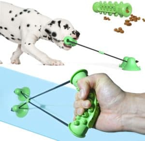 suction cup dog toy interactive dog rope toy for medium dog puppy teething chew toothbrush puzzle toy safe durable rubber for aggressive chewer large breed relieve anxiety boredom