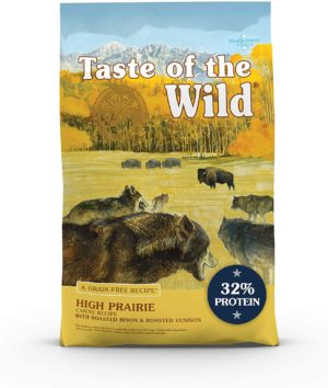 taste of the wild roasted bison and roasted venison high protein real meat recipes dry dog food with superfoods and nutrients like probiotics vitamins and antioxidants for adult dogs or puppies