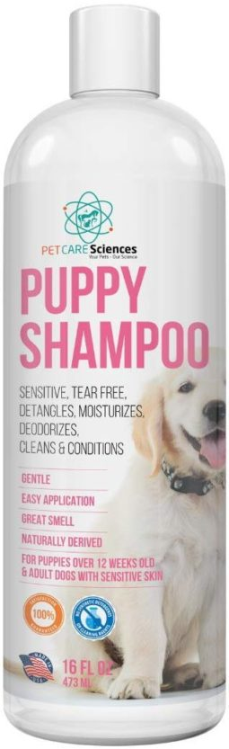 tearless puppy shampoo and conditioner gentle and sensitive coconut oil oatmeal and aloe dog shampoo and conditioner