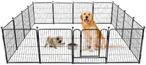 tooca dog pen 16 panels panels 40 height rv dog fence outdoor playpens exercise pen for dogs metal protect design poles foldable barrier with door