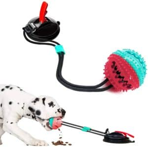 upgrade suction cup dog chewing toy dog chew toys for aggressive chewers dog rope ball toys with suction cup for puppies large dogs teeth cleaning interactive pet tug toy for boredom