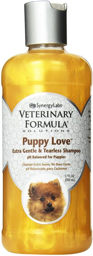 veterinary formula solutions puppy love extra gentle tearless shampoo safe for puppies over 6 weeks long lasting clean fresh scent cleanses without drying delicate skin 17oz