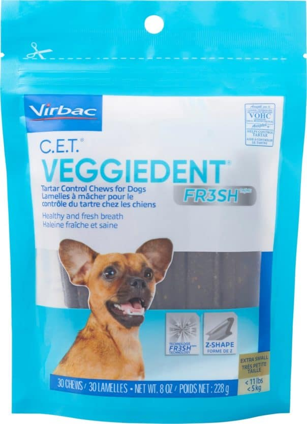 virbac c.e.t. veggiedent fr3sh tartar control dog chews