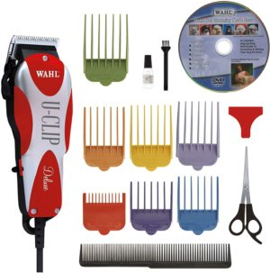 wahl professional animal deluxe u clip pet dog cat clipper grooming kit