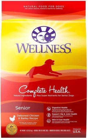 wellness complete health natural dry senior dog food chicken barley 1