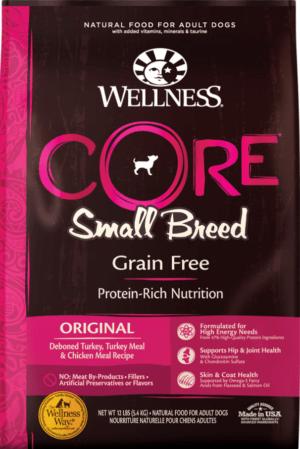wellness core grain free small breed turkey chicken recipe dry dog food 1