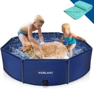 wideland octagonal pet dog pool slip resistant kiddie pool for kids protable pvc plastic puppy bathing tub grooming shower wading bath pool outdoor swimming pool for small medium large dogs pet