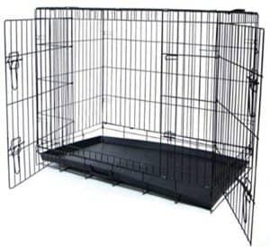 yml 36 inch 2 door heavy duty dog crate black
