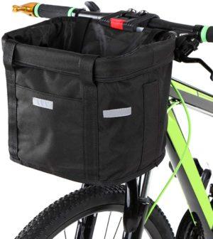 yorten bicycle front basket removable waterproof bike handlebar basket pet carrier frame bag black oxford cloth