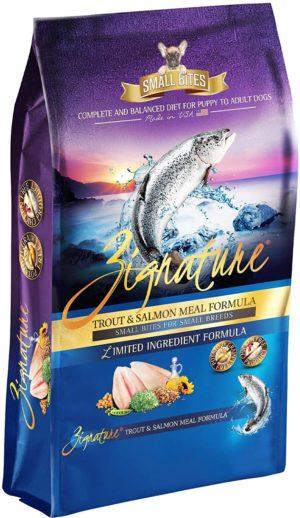 zignature small bites limited ingredient formula grain free dry dog food